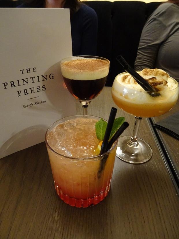 Printing Press cocktails